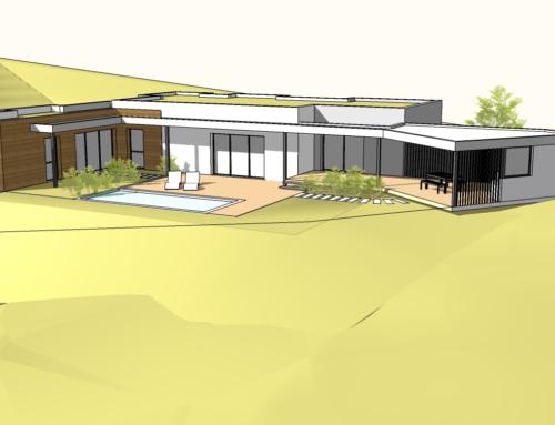 Construction de maison individuelle neuve sur mesure à Montpellier.
