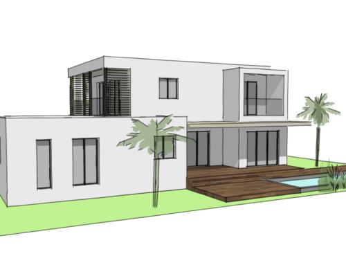 Projet de maison individuelle neuve à Montpellier.