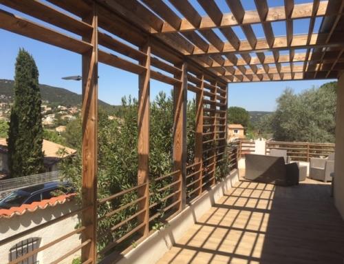 Rénovation et création d'une pergola bioclimatique par votre architecte à Montpellier